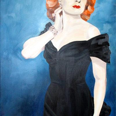 Greer Garson oil